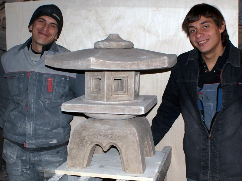 Японский фонарь для сада своими руками